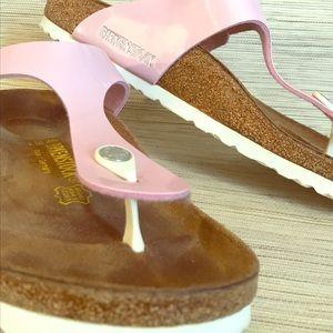 """Birkenstock """"Gyzeh"""" sandals - Pink + White (s.10)"""
